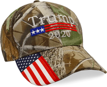 Load image into Gallery viewer, Keep America Great Trump 2020 - Red and Blue Rally Flag + KAG Hat and Trump Camo Hat Bundle