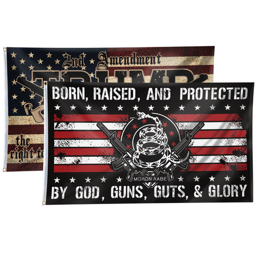 Born and Raised Flag 2nd Amendment 2-Pack Bundle