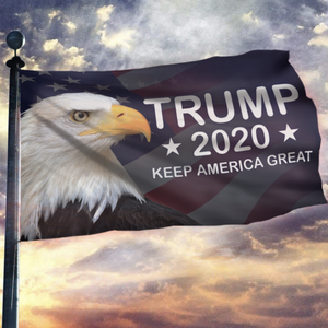 LIMITED EDITION Trump 2020 Keep America Great - American Eagle Flag