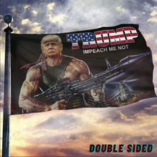Load image into Gallery viewer, TRUMP RAMBO FLAG With FREE Trump 2020 Pin