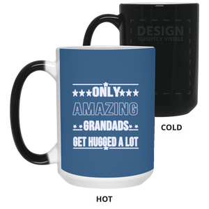 Only Amazing Grandads Gets Hugged A lot Father's Day Color Changing Mugs