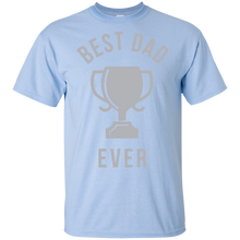 Load image into Gallery viewer, Father's Day Gift - Best Dad Ever Trophy - Mens T Shirt