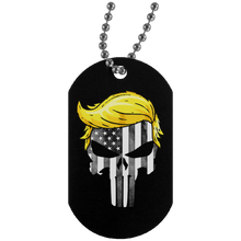 Load image into Gallery viewer, Trump Punisher Black and White Dog Tag Necklace