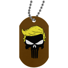Load image into Gallery viewer, Trump Punisher Skull Dog Tag Necklace