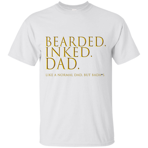 Father's Day Gift - Bearded Inked Dad - Mens T Shirt