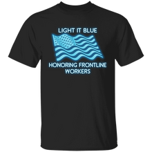 Load image into Gallery viewer, Honoring Frontline Workers Light it Blue Apparel