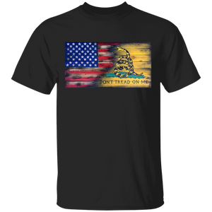 USA and Gadsen Flag Split Design, Don't Tread on Me