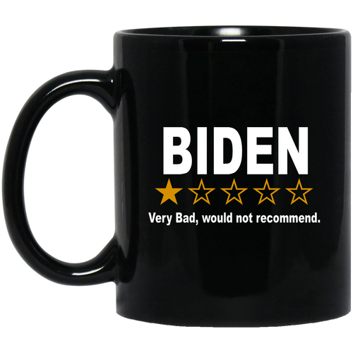Biden Rating - 1 Star 11 oz. Black Mug