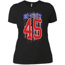 Load image into Gallery viewer, Re - Elect Trump 45 Women Boyfriend T-Shirt