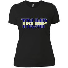 Load image into Gallery viewer, Trump Yellow Line Boyfriend T-Shirt