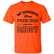 Load image into Gallery viewer, My Favourite Disney Princess Calls Me Daddy Father's Day Mens Shirt