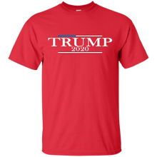 Load image into Gallery viewer, Trump 2020 USA Flag Mens T Shirt and Hat + Free Trump Paracord Bracelet Combo Deal