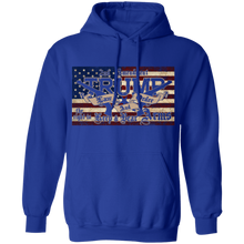 Load image into Gallery viewer, TRUMP 2020 LAW and ORDER 2nd AMENDMENT GUNS Pullover Hoodie 8 oz.
