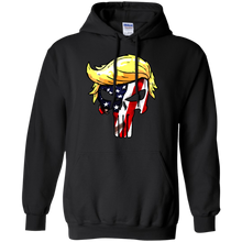 Load image into Gallery viewer, Trump Punisher full color American Flag Pull over Hoodie & Sweatshirt