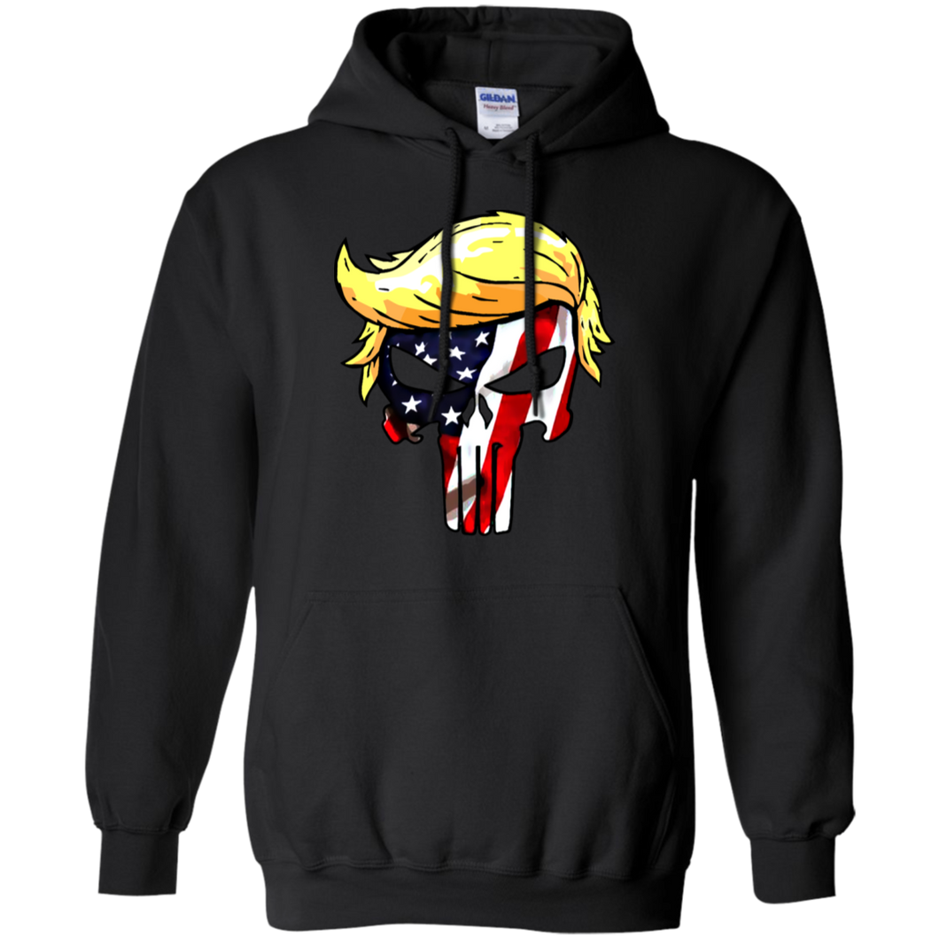 Trump Punisher full color American Flag Pull over Hoodie & Sweatshirt