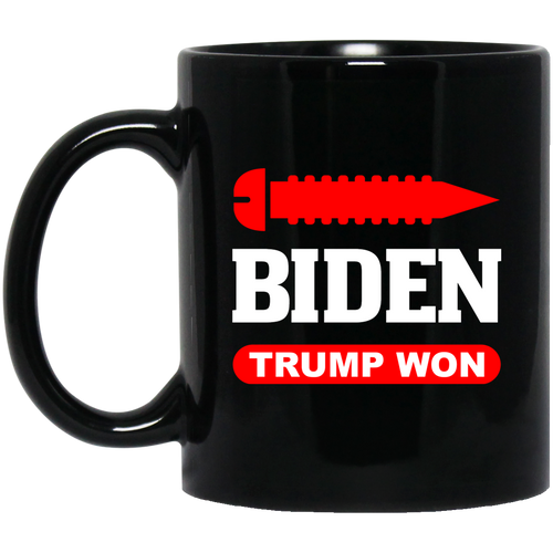 Screw Biden, Trump Won 11 oz. Black Mug