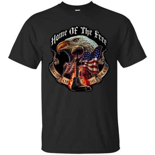 Home of The Free Because of The Brave - Memorial Day Mens T- shirt