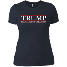 Load image into Gallery viewer, Trump Keep America Great 2020 Shirt for Women and Hat + Free Trump Rally Flag Combo Deal
