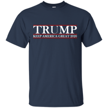 Load image into Gallery viewer, Trump Keep America Great 2020 Shirt for Men and Hat + Free Trump Rally Flag Combo Deal