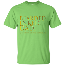 Load image into Gallery viewer, Father's Day Gift - Bearded Inked Dad - Mens T Shirt