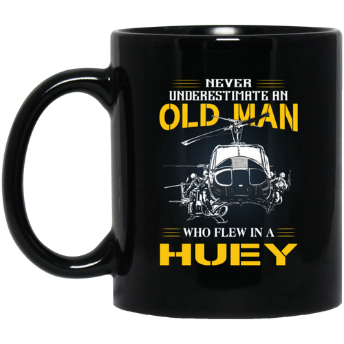 Huey Veteran 11 oz. Black Mug