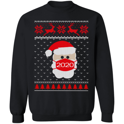 2020 Santa Wearing Mask Sweatshirt