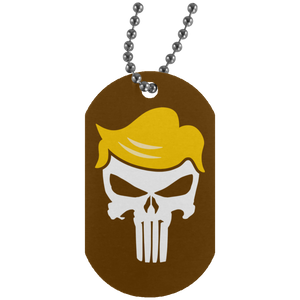 Trump Punisher White Dog Tag Necklace