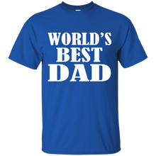 Load image into Gallery viewer, Father's Day Gift - World's Best DAD - Mens T Shirt