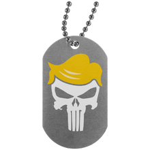 Load image into Gallery viewer, Trump Punisher White Dog Tag Necklace
