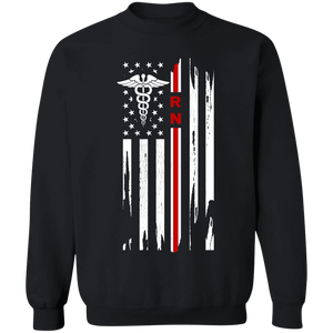 Registered Nurse Thin Red Line Flag Apparel