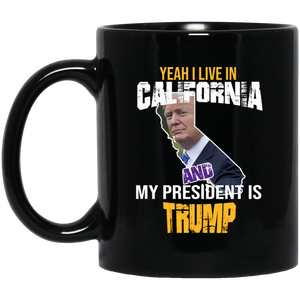 Yeah I Live In California And My President Is Trump 11oz. Mug
