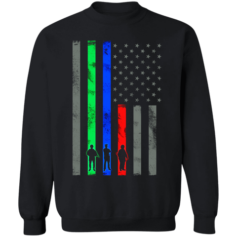 Thin Blue Green Red Line Flag Apparel