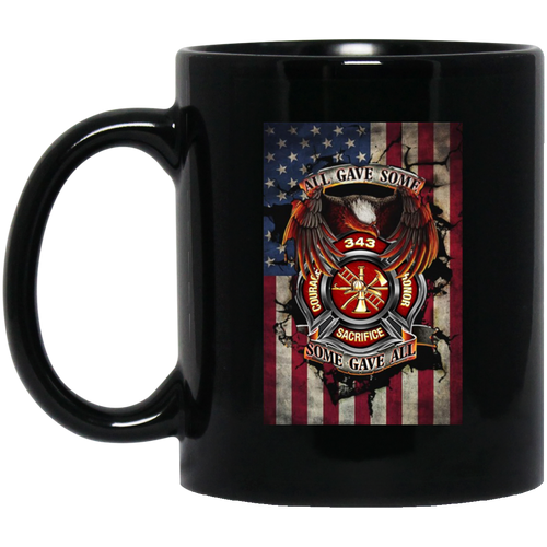 Courage Honor Sacrifice Vertical Flag Mug