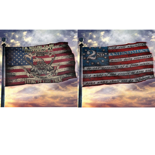 Defend the Second 2nd Amendment 2-Pack Flag Bundle B