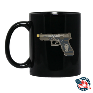 Donald Trump 45th - Animated Pistol - Mug