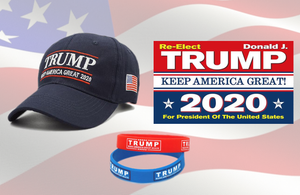 Trump Keep America Great 2020 Hat Trump 2020 Flag w/ Free Silicone Bracelet