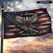 Load image into Gallery viewer, It's My Gun Permit - 2nd Amendment Flag