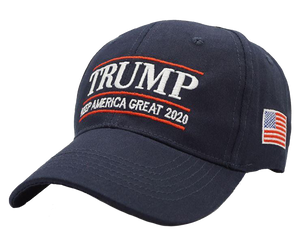 Keep America Great Trump 2020 - Red and Blue Rally Flag + KAG Hat and Trump Camo Hat Bundle
