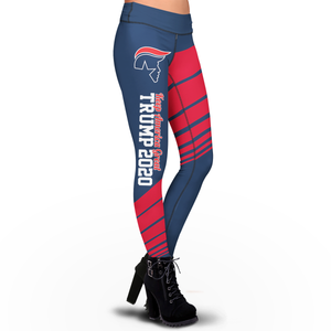 Pre-Release Limited Edition Trump 2020 KAG - Leggings - USA Colorway + Trump 2020 White Flag Bill Hat