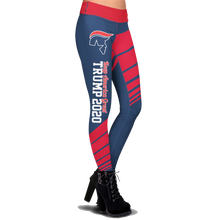 Load image into Gallery viewer, Pre-Release Limited Edition Trump 2020 KAG - Leggings - USA Colorway + 45th President Trump Pin