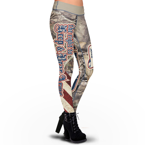 Pre-Release Trump 2020 LNO Camo Sublimation Leggings