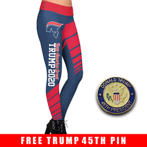Pre-Release Limited Edition Trump 2020 KAG - Leggings - USA Colorway + 45th President Trump Pin