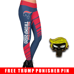 Pre-Release Limited Edition Trump 2020 KAG - Leggings - USA Colorway + Trump Punisher Pin