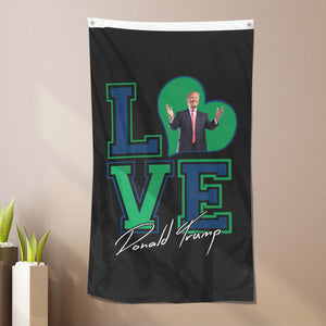 I Love Donald Trump Flag