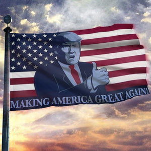 Trump President Make America Great Again Thumbs Up