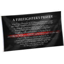 Load image into Gallery viewer, Firefighter's Prayer Flag