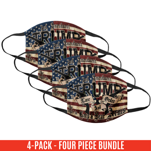Trump Law and Order Cloth Cotton Face Cover - 4 Pack Bundle