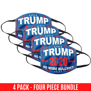 No More Bull***t 2020 Flag Cotton Face Cover - 4 Pack Bundle