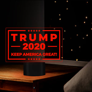 Trump 2020 Keep America Great 3D LED Night Light Toy For Christmas Gift