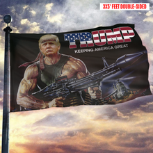 Load image into Gallery viewer, Trump Keeping America Great Rambo Flag